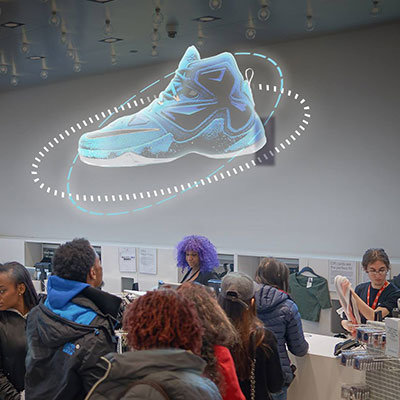 Holografische 3D projectie in Point of Sales