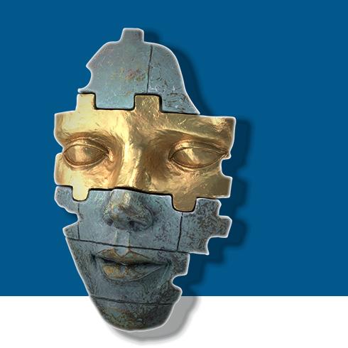 banner gezichtsdetectie op basis van artificiële intelligentie